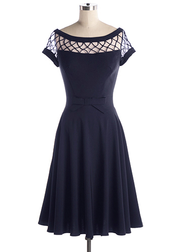 Alika Dress in Navy - Click Image to Close