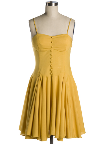 Looking Forward Dress in Yellow -  49.95   Women s Vintage-Style ... 62b71d126